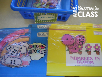 Fun, hands-on math centers for Kindergarten!