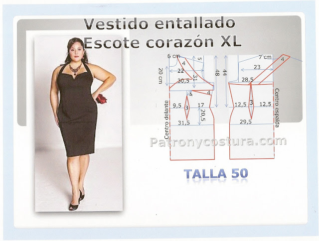 http://www.patronycostura.com/2015/07/vestido-escote-corazon-xl-tema-118.html