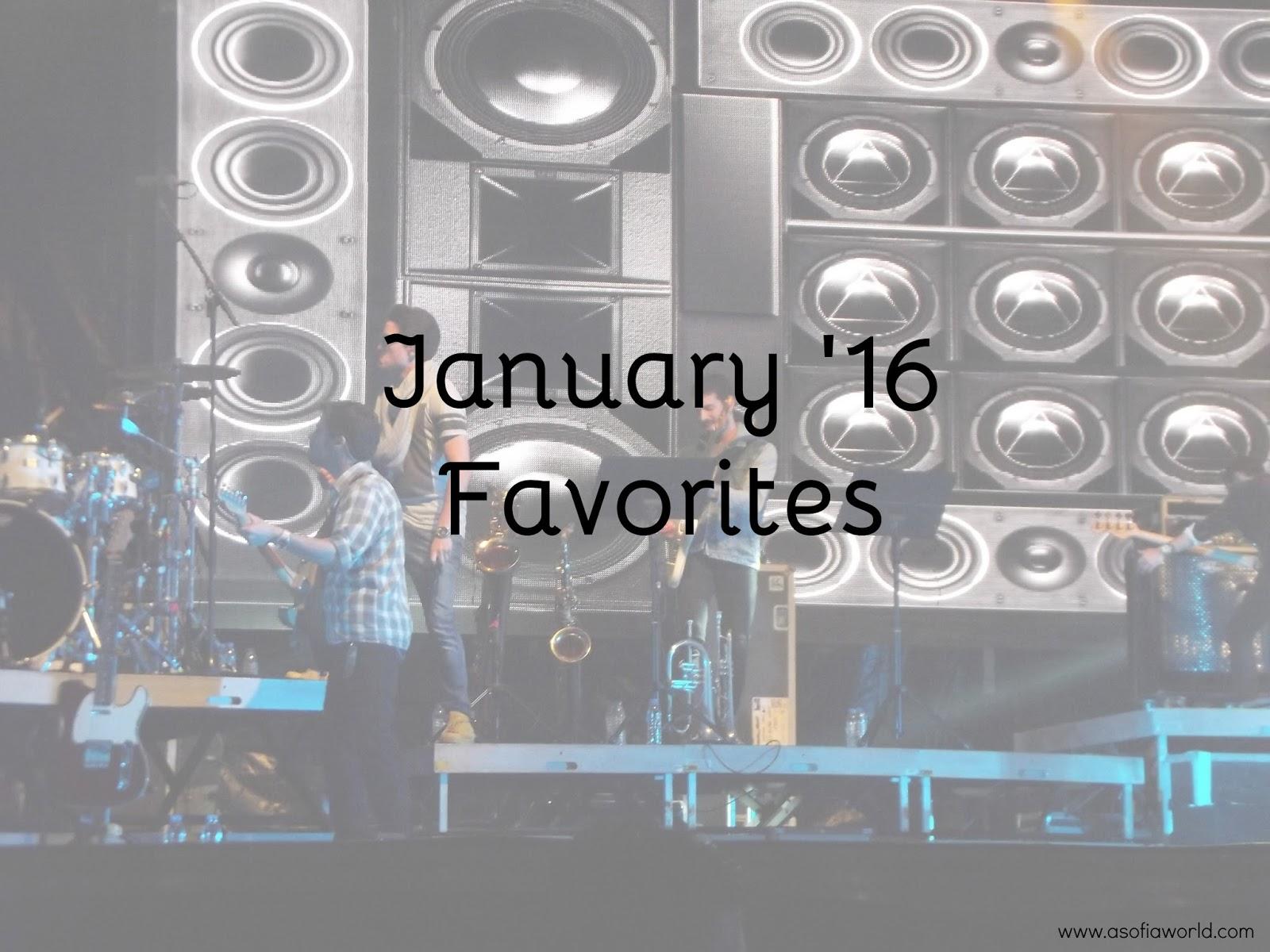 January 2016 Favorites