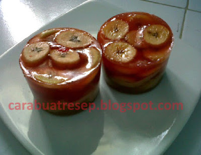 Foto Resep Puding Pisang Saus Gula Merah Sederhana Spesial Asli Enak