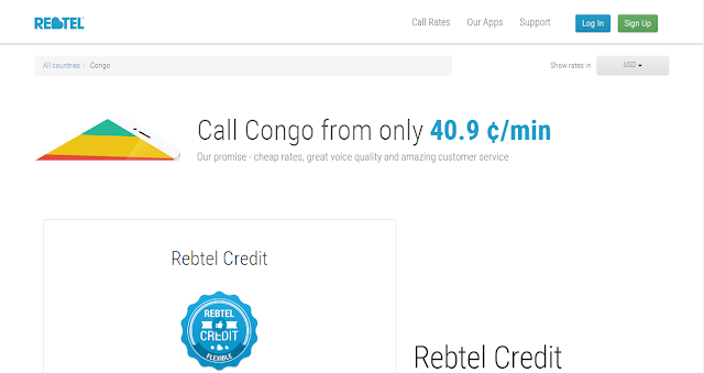cheap calls to Congo by Rebtel