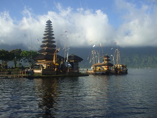 Pura Ulun Danu Bratan the Water Temple at Bratan Lake Bali