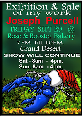 Joseph Purcell Art Show at Rose & Rooster