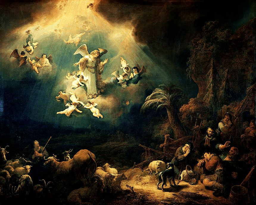 Govert Flinck: Angels Sing to the Shepherds