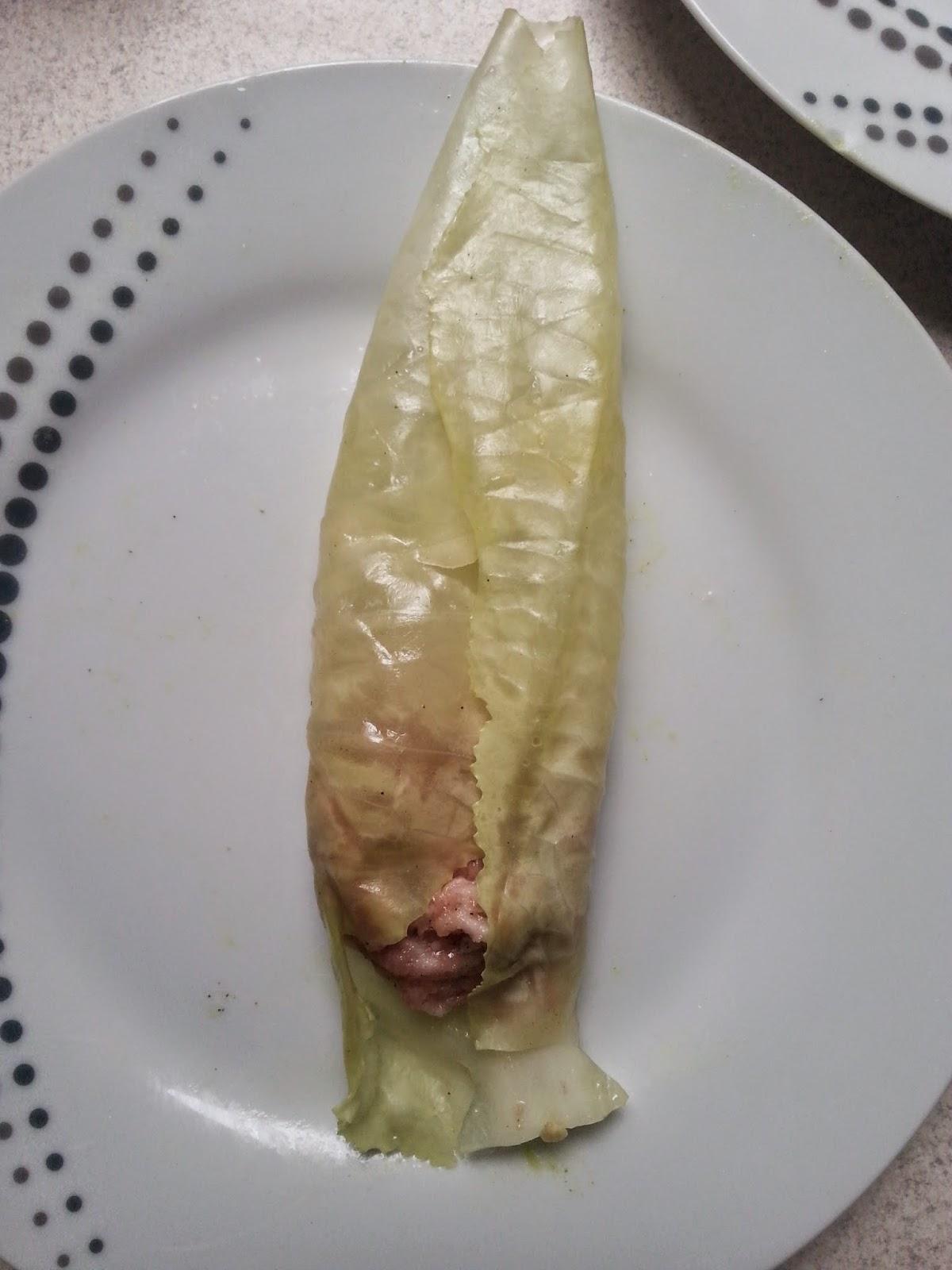 Smaczny obiad - gołąbki.