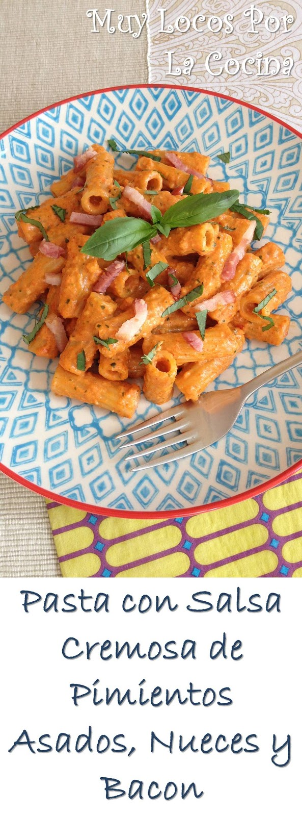 Muy locos por la cocina pasta con salsa cremosa de - Como se hace la salsa pesto para pasta ...