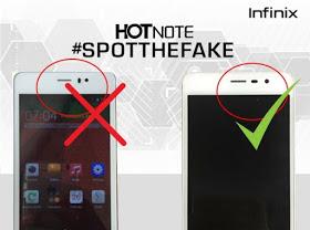 Fake Infinix Hot note