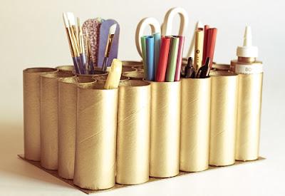 reciclagem reciclar artesanato diy meio ambiente faça voce mesmo  reciclavel rolo de papel higienico rolinho porta treco lapis