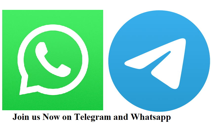 Join us on Telegram and Whatsapp