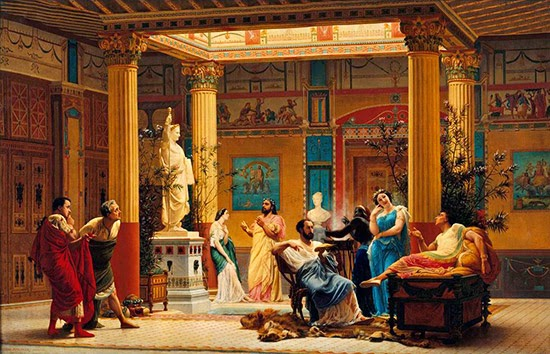 La domus romana for Arredamento della casa con la a