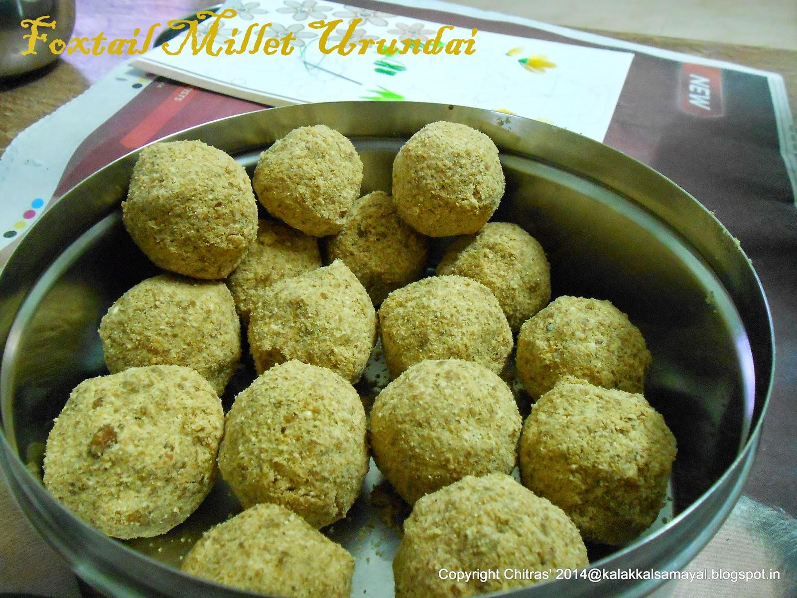 Thinai Ellu Urundai [ Foxtail millet Til Balls ]