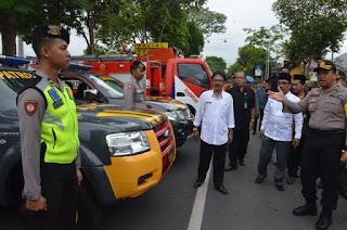 Pj Sekda Trenggalek Apresiasi Kesiapan Pasukan Pengamanan Pemilu 2019 di Trenggalek