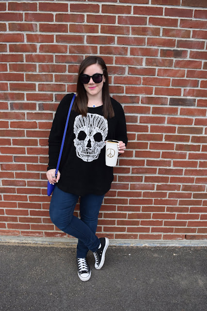 Sequins and Skulls: Skull Sweater