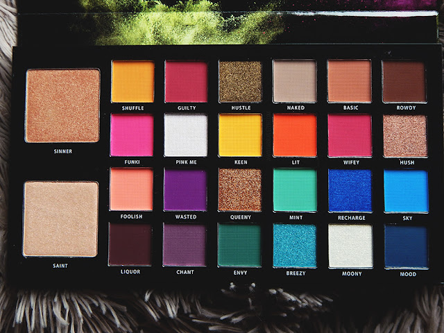 BPerfect Cosmetics x Stacey Marie Carnival Palette Review close up of full shade range