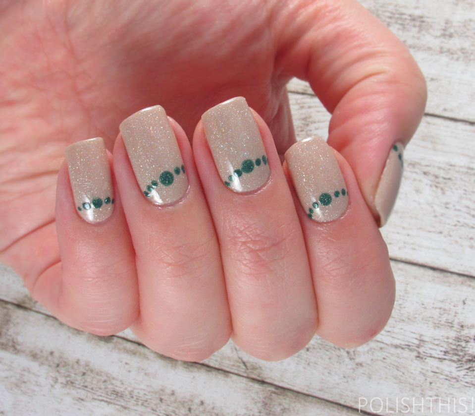 Dotted nail art polish this picture polish cherish has been on my wishlist for quite a while and now its finally mine its a stunning nude scattered holographic just right up alley prinsesfo Images