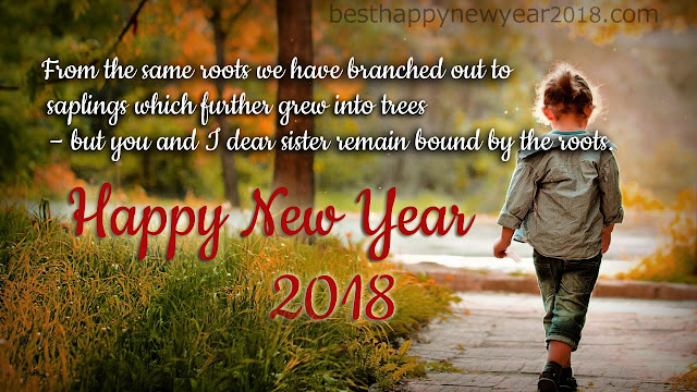 New Year 2018 eCards for Sister