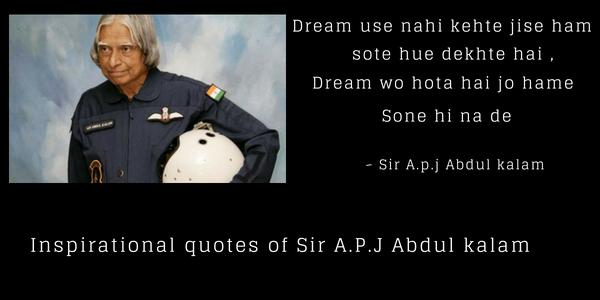 50 Best inspirational quotes of apj abdul kalam
