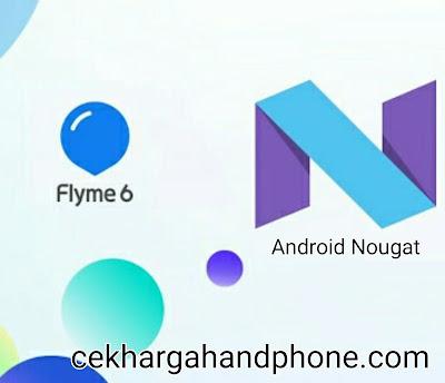 Handphone Android Meizu Yang kebagian Nougat