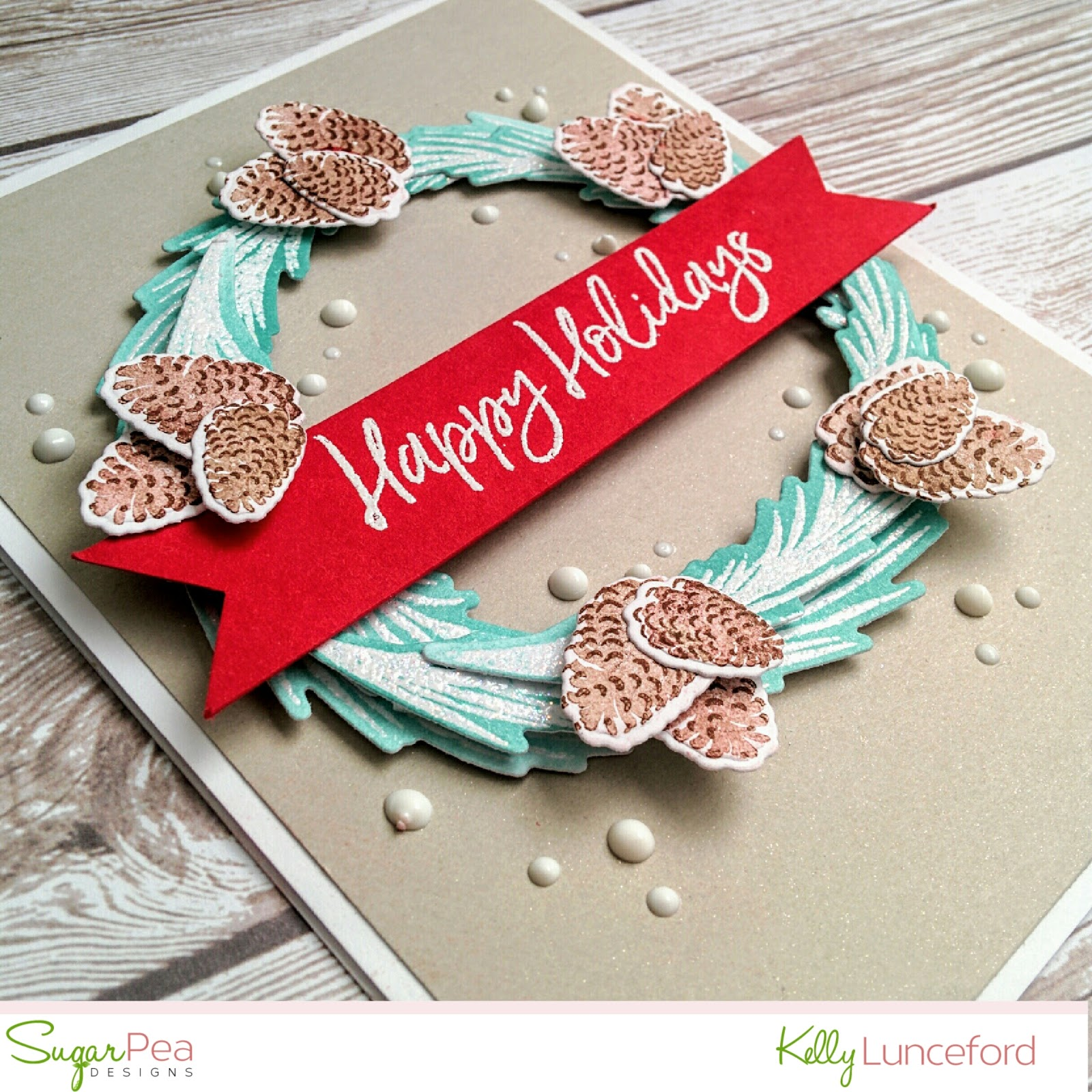 Flutter by atomicbutterfly sugarpea designs release week flurry for this card i heat embossed the large pine bough image using nuvo glitter embossing powder and then ink blended around each branch using distress ink kristyandbryce Images