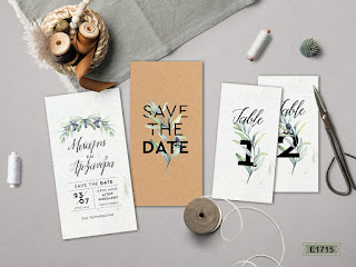 olive leaves save the data invitations
