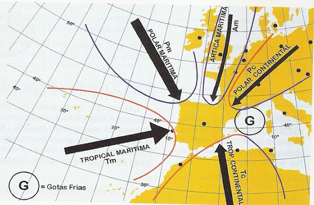 Resultat d'imatges de advecciones en la peninsula iberica
