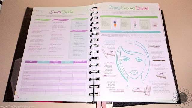 2016 Belle De Jour Power Planner:  Health and Beauty Essentials Checklist Page Picture (Review at http://www.TheGracefulMist.com/)