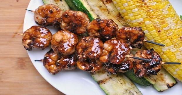 Glazed Honey Garlic Shrimp Recipe