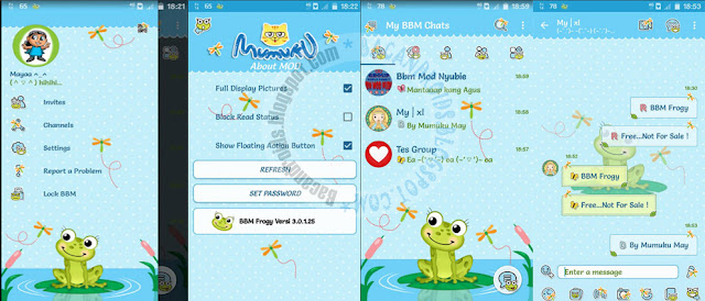 BBM Mod Frogy Theme v3.0.1.25 Apk Terbaru For Android Clone And Unclone