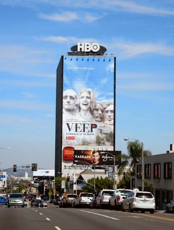 Giant Veep Mount Rushmore season 4 billboard