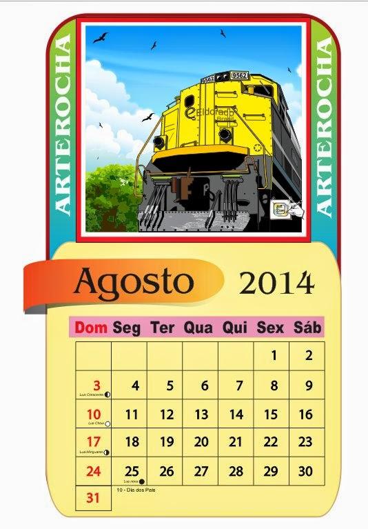 ARTEROCHA: CALENDÁRIO AGOSTO/2014