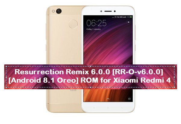 Resurrection Remix 6 0 0 [RR-O-v6 0 0] [Android 8 1 Oreo] ROM for