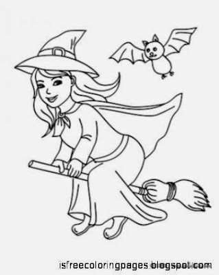 Free Coloring Pages: Witch Coloring Pages