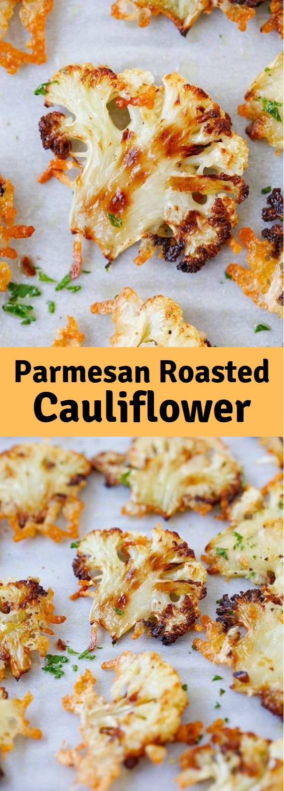 Parmesan-Roasted Cauliflower #Parmesan #Cauliflower