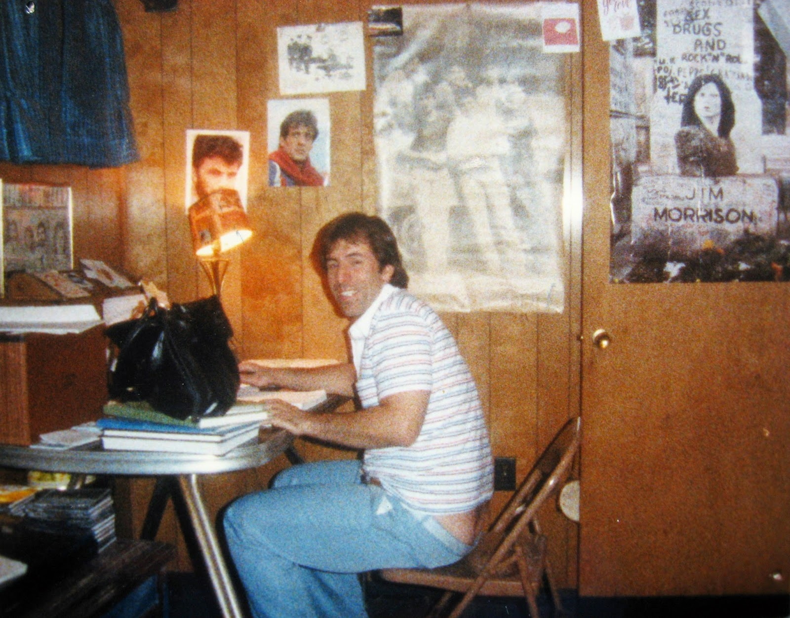 Tommy Mondello at the tail end of his basement days... my Batcave!