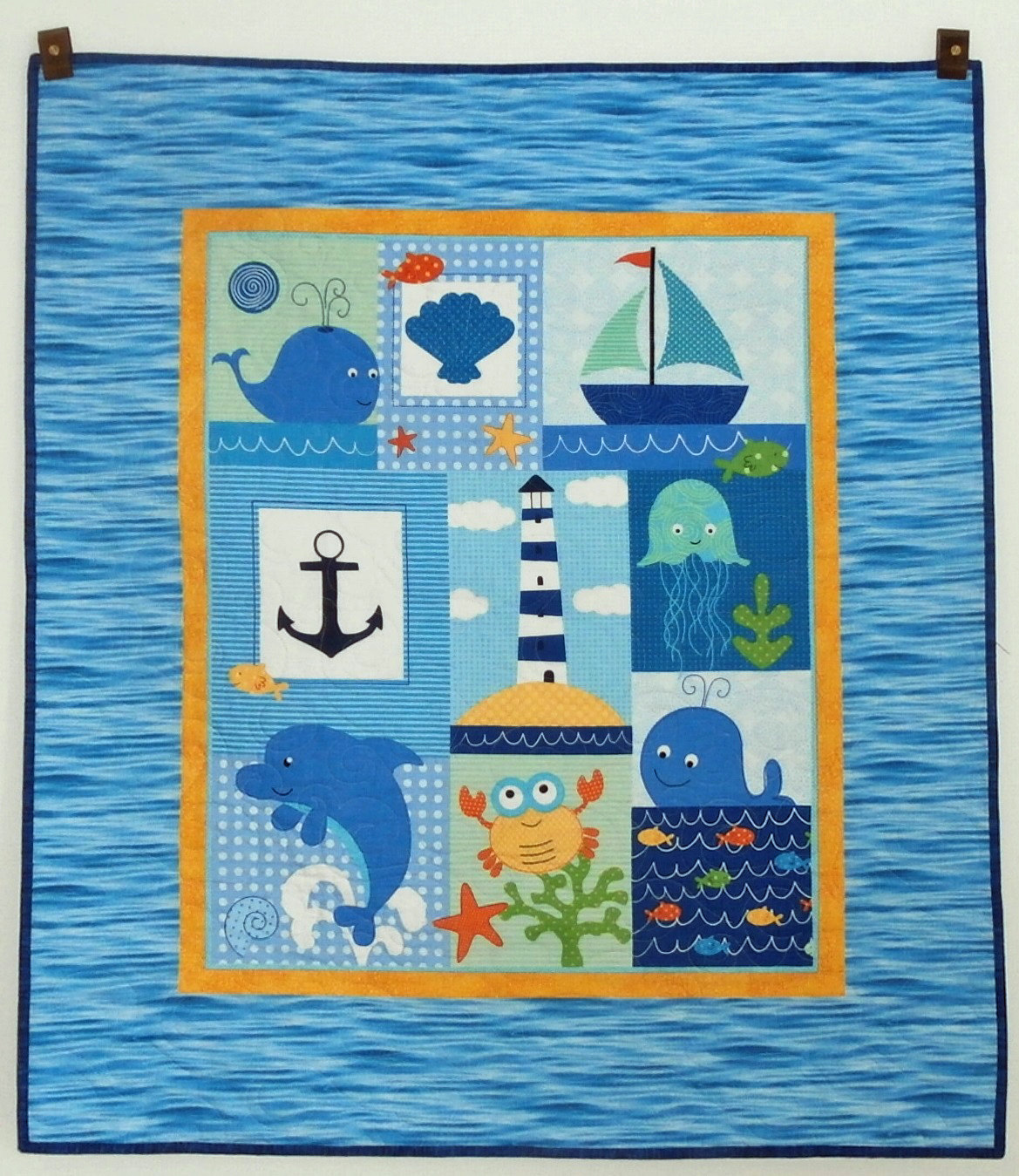 123 Lets Sew Easy Baby Quilt From A Pre Printed Panel