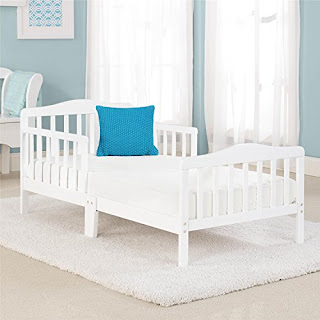 Big Oshi Contemporary Design Toddler Bed, White