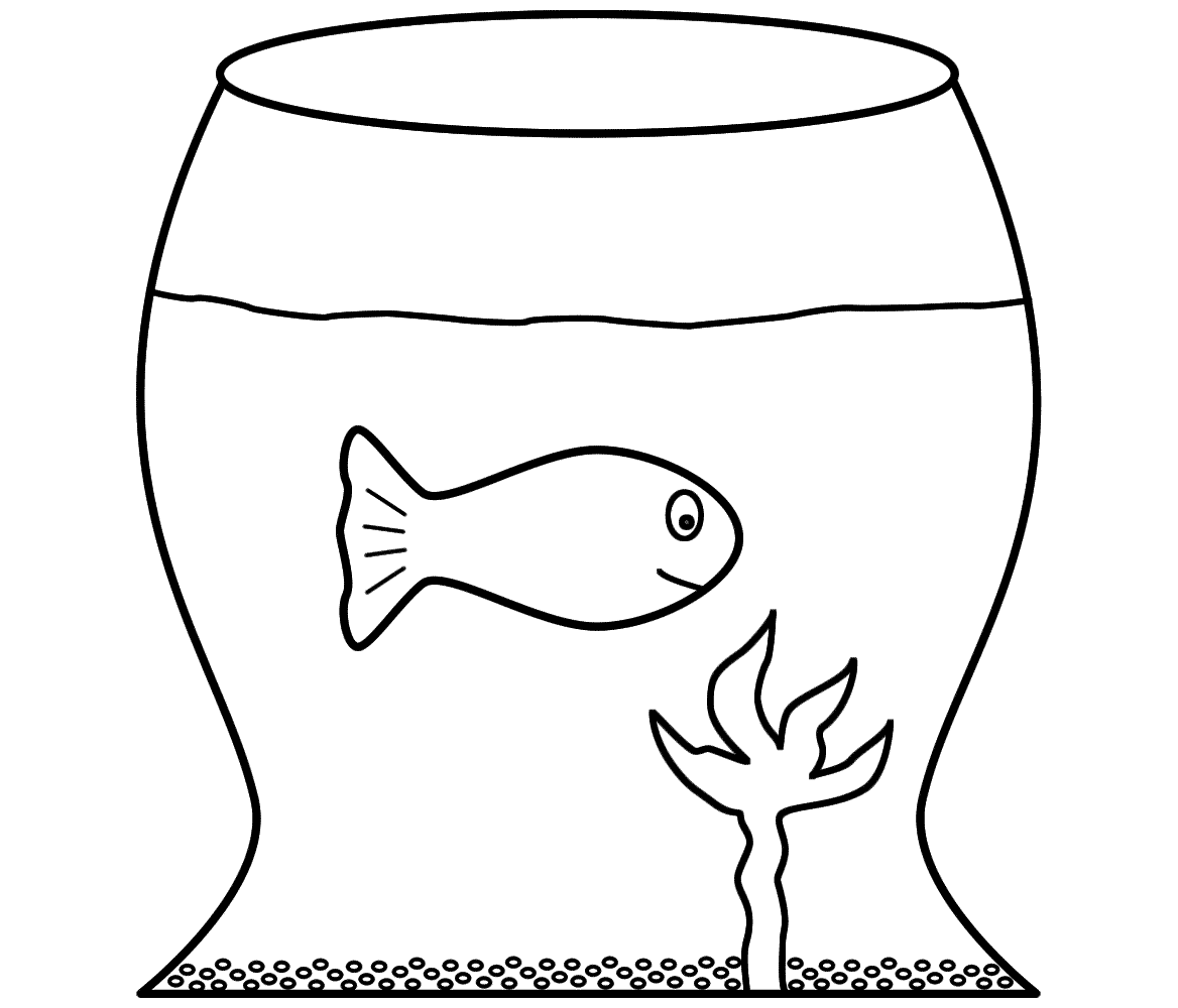 colour drawing fish bowl coloring drawing fish bowl coloring drawing
