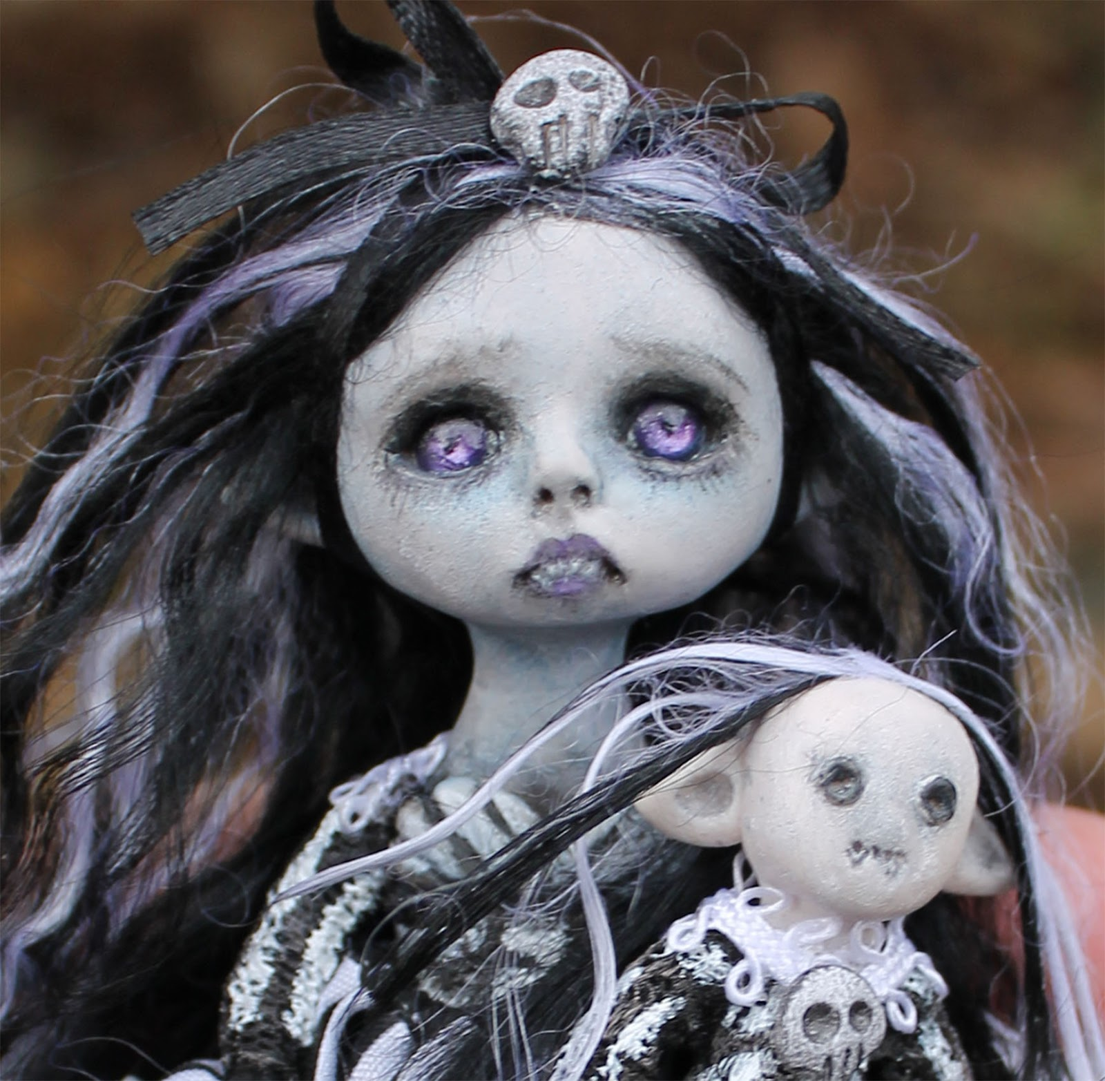 Anne Marie Gibbons Lil' Poes OOAK goth dolls and monsters ...