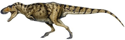 Dibujo de Tarbosaurus de perfil