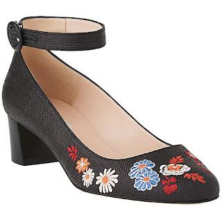 L K Bennett Peggy Block Heeled Court Shoe