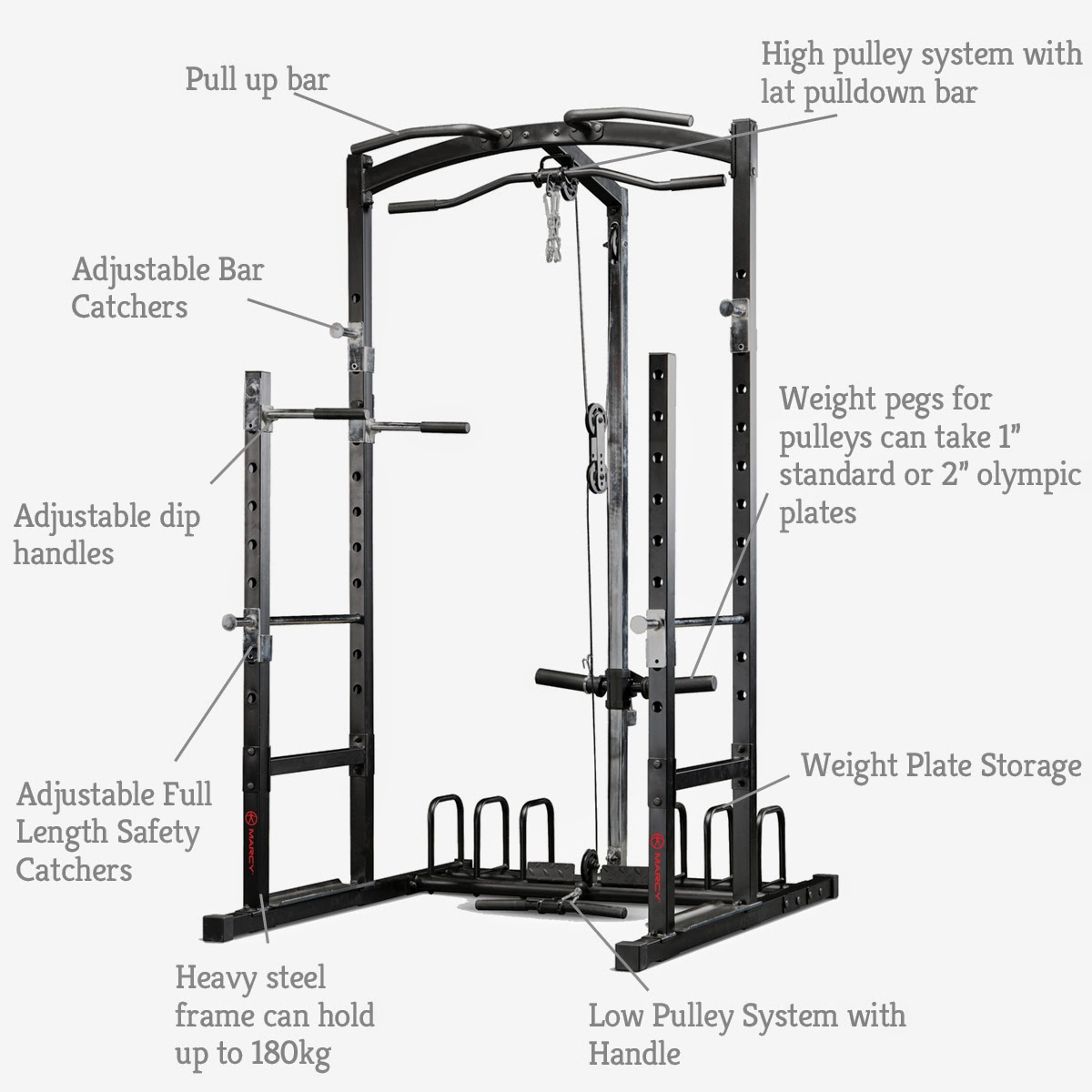 Pure Fitness And Sports Marcy Eclipse Rs Power Rack