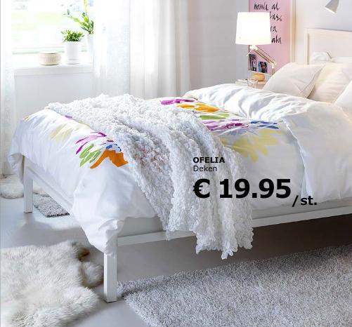 kleed op bed