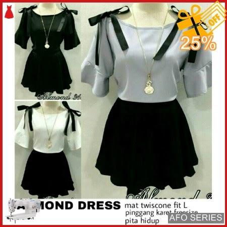 AFO283 Model Fashion Almond Dress Modis Murah BMGShop