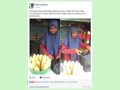 FOTO Neng Cantik Penjual Jagung Rebus Manis dari Subang - Niew Agustian