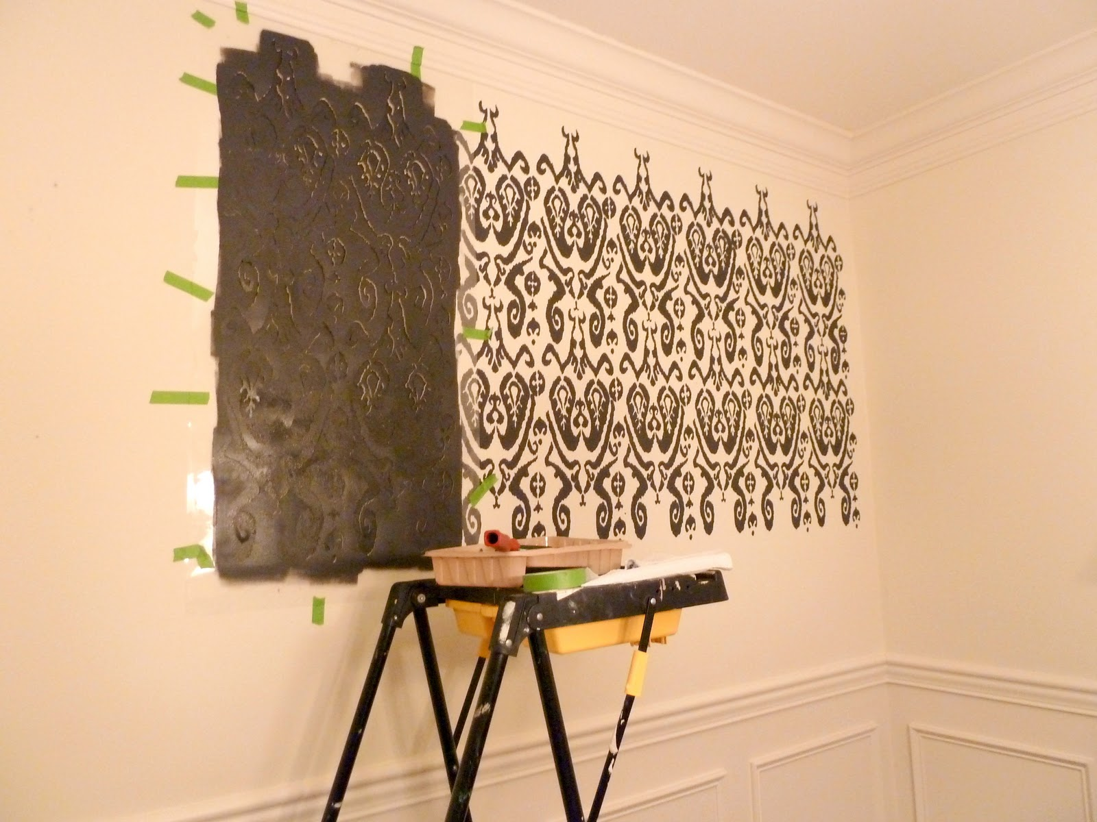 How to stencil a wall a first timers experience our fifth house how to stencil a wall a first timers experience amipublicfo Gallery