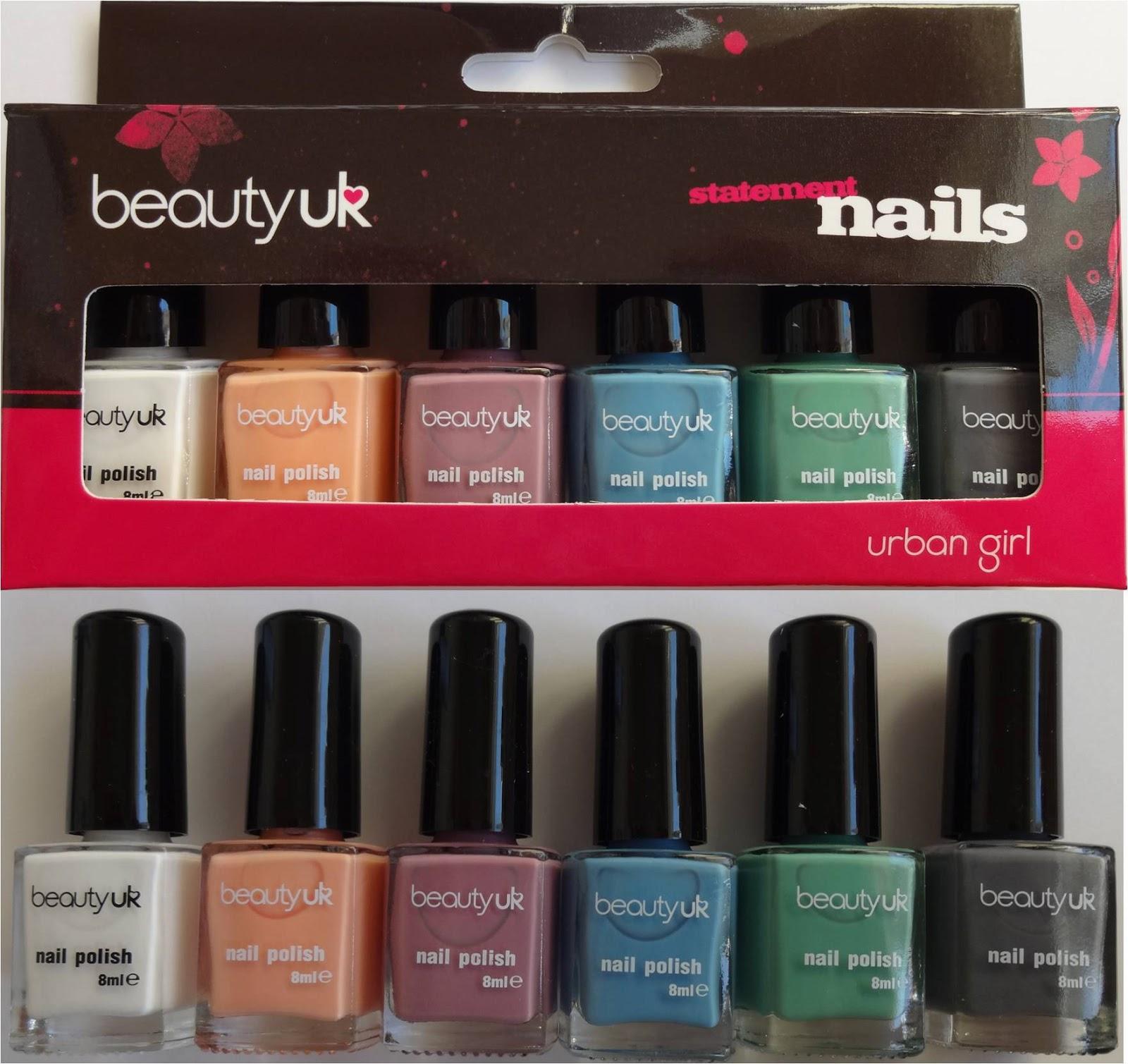 Wendy's Delights: Beauty UK - Urban Girl Nail Polish Set