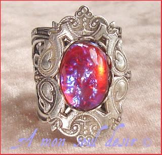 bague medievale renaissance souffle du dragon medieval dragon breath ring
