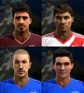 Faces: Roman Martinez, Mora, Benedetto, Zuqui, Pes 2013
