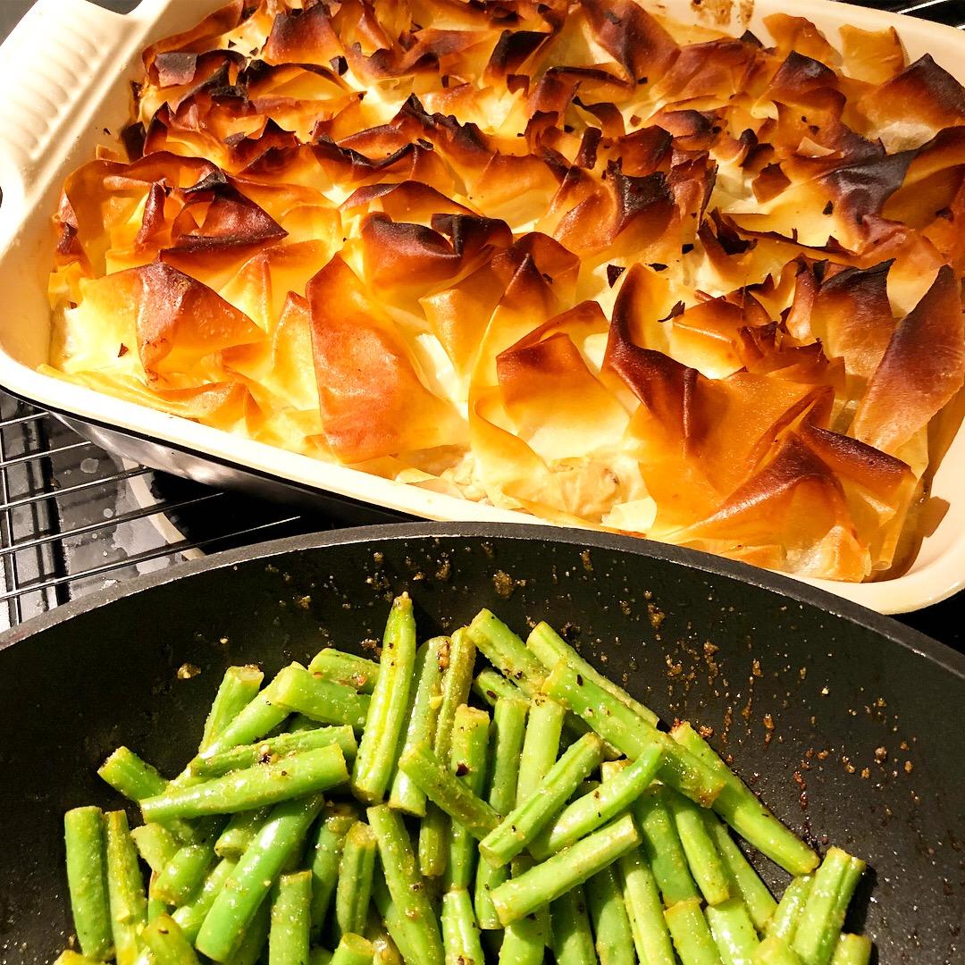 Chicken And Mushroom Filo Pie