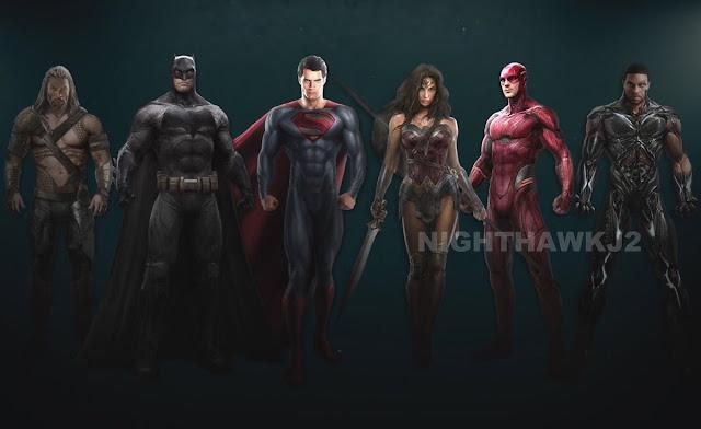 Ліга Справедливості новий концепт-арт